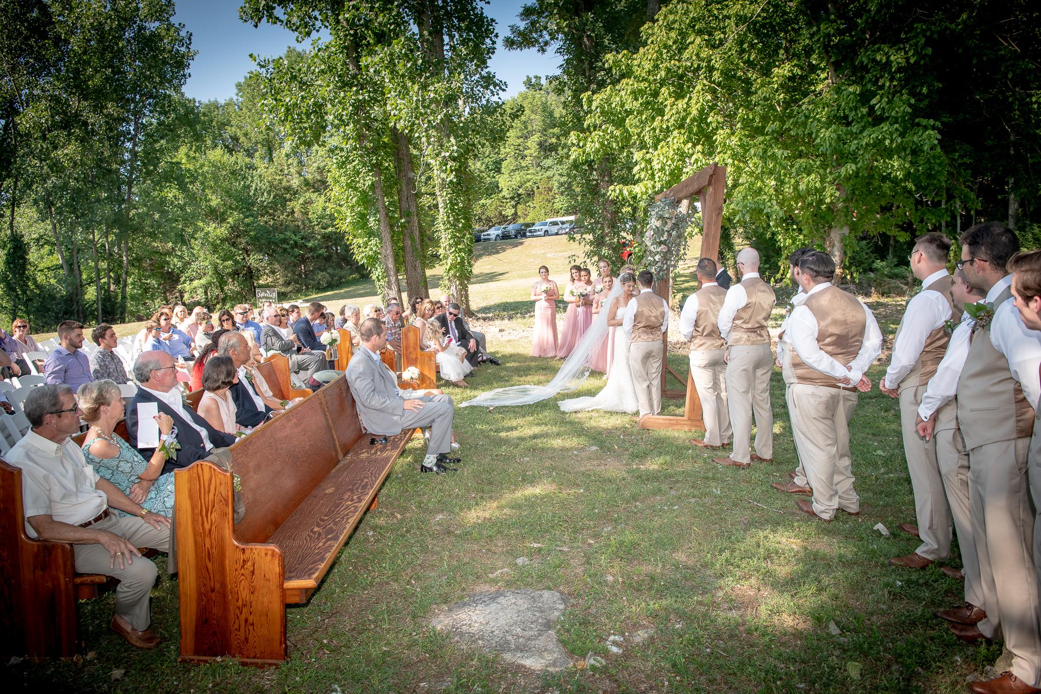 wedding ceremony in Nashville, Tennessee