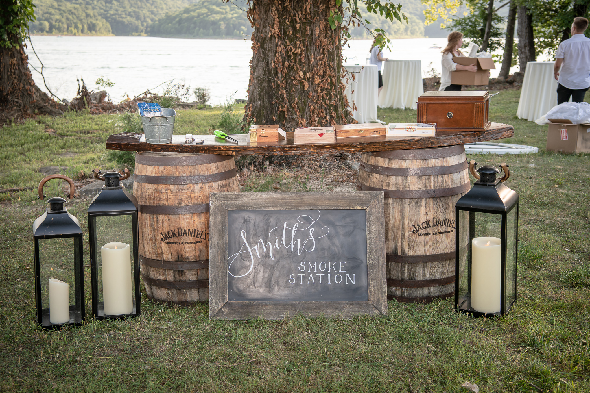 Smoke station at Edgar Evans State Park wedding