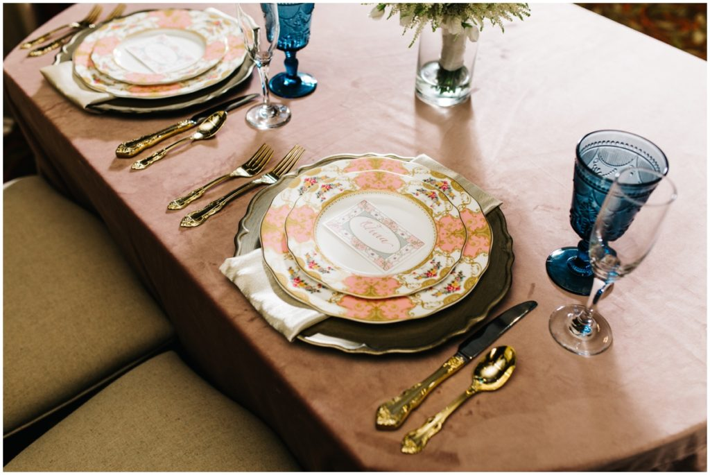 Royal wedding table set inspiration