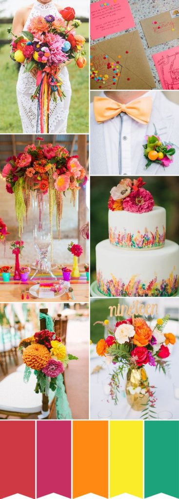 Colorful wedding ideas from Pinterest, wedding blog One Fine Day